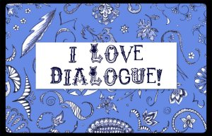 I love dialogue doodle banner