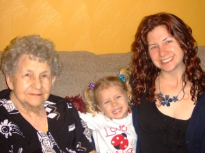 My mother, granddaughter and daughter in 2012