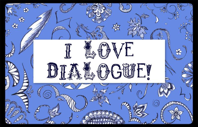 doodle banner I love dialogue